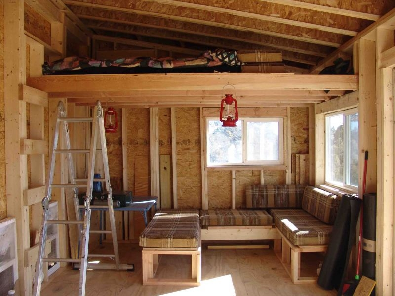 10x14 modern shed small cabin forum 1 Building A Small Cabin With Loft