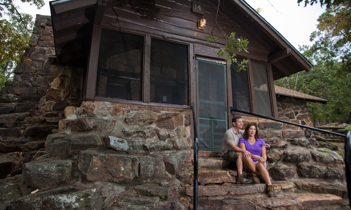 cabin stay for four greenleaf state park groupon Oklahoma State Parks Cabins