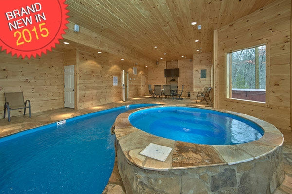 coopers cove 4 bedroom cabin in sevierville Cabin In Tennessee With Indoor Pool