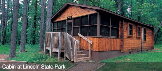 dnr family cabins fees reservations Spring Mill State Park Cabins