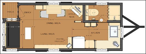 easy tiny house floor plans cad pro Tiny Cabin Floor Plans With Loft
