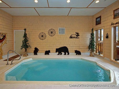 gatlinburg cabins with indoor private pools Cabin In Tennessee With Indoor Pool