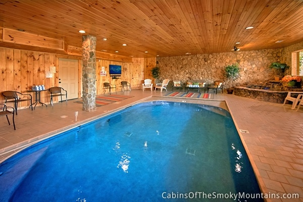 gatlinburg cabins with indoor swimming pools Cabin In Tennessee With Indoor Pool
