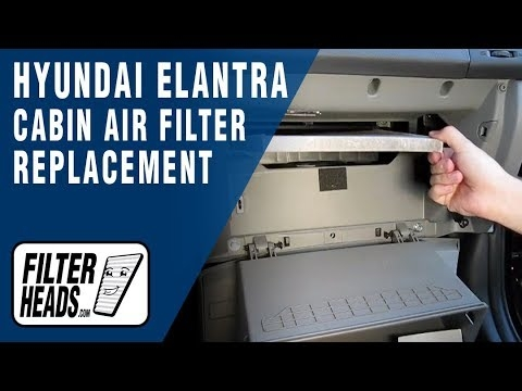 how to replace cabin air filter hyundai elantra youtube Hyundai Sonata Cabin Air Filter