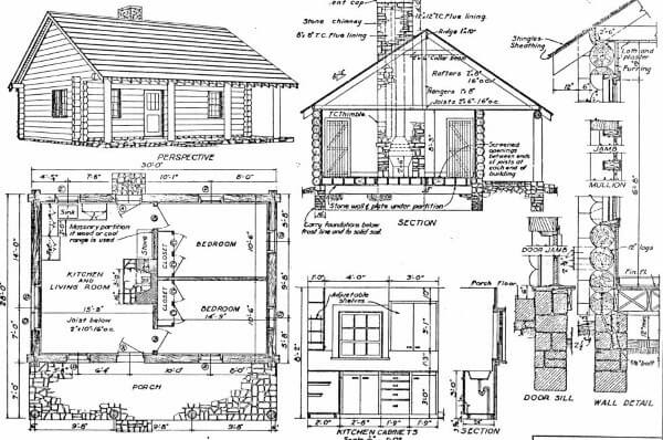 log home plans 40 totally free diy log cabin floor plans 2 Bedroom Cabin Plans With Loft