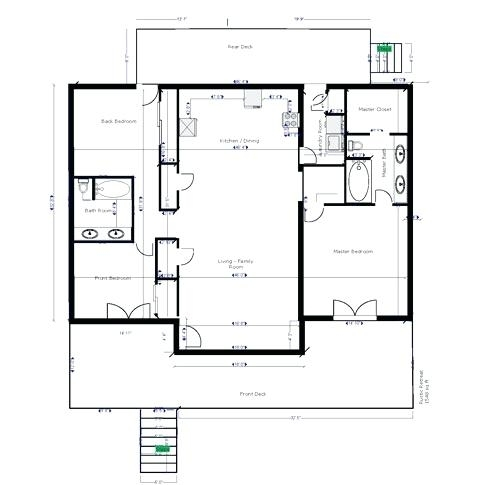 one bedroom cabin plans lazy bear cabin rustic floor plan one single One Bedroom Cabin Floor Plans