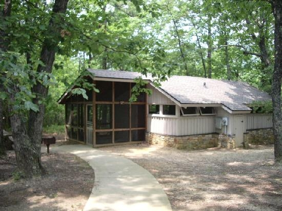 outside of cabin picture of hanging rock state park danbury Nc State Parks With Cabins