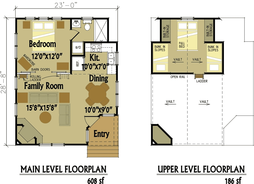 small cabin designs with loft small cabin floor plans Small Cabin With Loft Plans