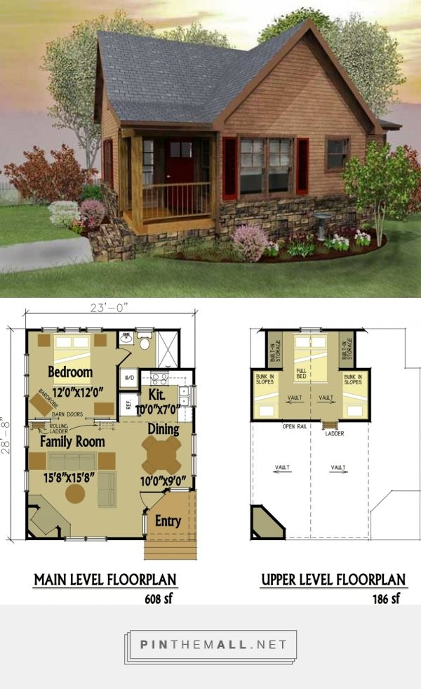 small cabin designs with loft tiny house love pinterest cabin Small Cabin With Loft Floor Plans