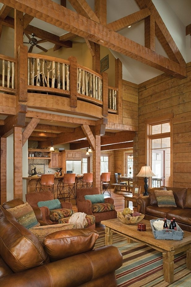 15 examples of wonderful rustic home interior designs pinterest White Walls Brown Furniture Cabin Style Home