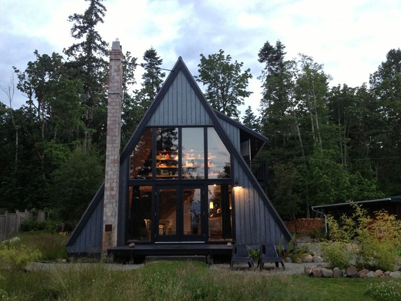 30 amazing tiny a frame houses that youll actually want to live in A Frame Cabin With Loft Plans