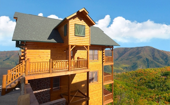 8 bedroom sleeps 30 cades cove castle large cabin rentals Smoky Mountain Cabins Pet Friendly