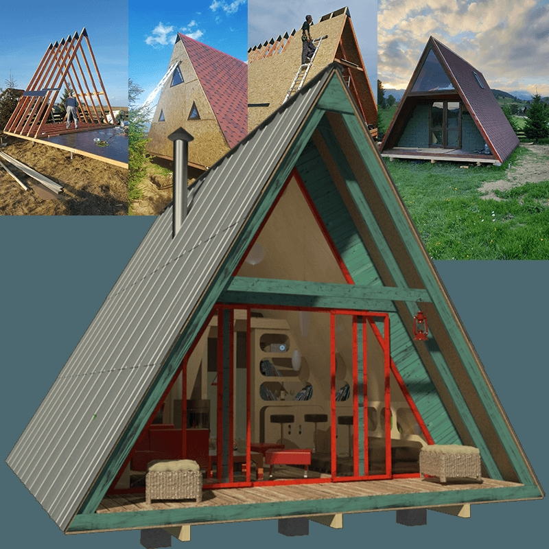 Permalink to Gorgeous A Frame Cabin With Loft Plans 2019