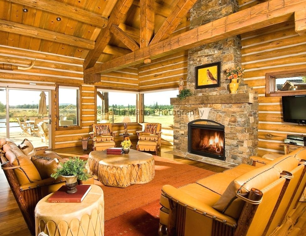 cabin living room atppoertschach Country Cabin Living Room Ideas