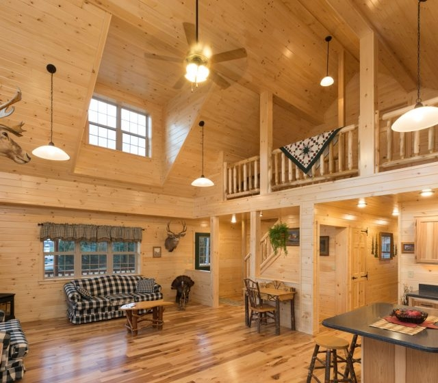 log cabin interior ideas home floor plans designed in pa Small Log Cabins With Loft