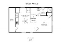 16×24 cabin floor plans windows 4 x 14 porch bath wd 16×24 Cabin Plans With Loft