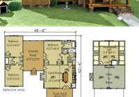 Small Lake Cabin Plans-Small Floor Plans Cabins Dog Trot House Plan Lake Cabin Floor Plans With  Loft – Processcodi.com | Dog Trot House Plans, Dog Trot House, House Plans