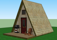a frame cabin simple solar homesteading Small A Frame Cabin Plans With Loft