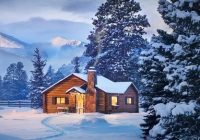 a snowy cabin next to rocky mountain national park picture of Cabins Rocky Mountain National Park