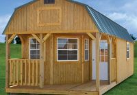 affordable modular cabins for sale online shed with log store Lofted Barn Cabin For Sale