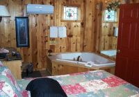 bedroom with jacuzzi picture of pinewood cabins mountain view Pinewood Cabins Mountain View Arkansas