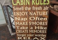 cabin decor cabin rules sign outdoor decor wooden painted sign Pinterest Outdoor Cabin Decor