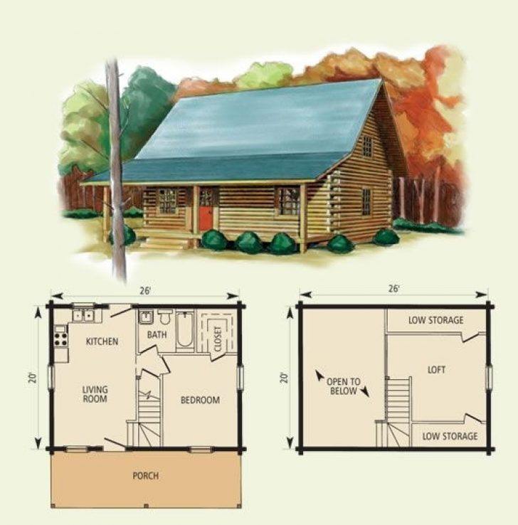 Permalink to Latest Small Log Cabin Floor Plans With Loft Ideas