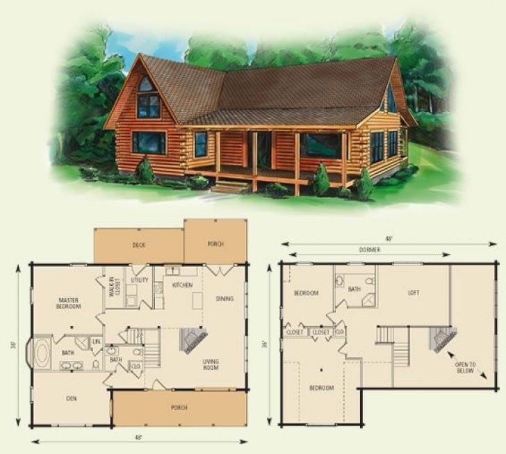 Permalink to Cozy Log Cabin House Architectural Design And Floorplans Inspirations