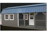 graceland portable buildings Side Lofted Barn Cabin With Porch