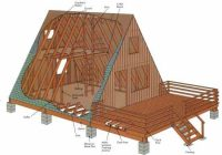 how to build an a frame diy mother earth news A Frame Cabin With Loft Plans