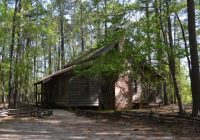 log house moved from another site to the state park for preservation Hickory Knob State Park Cabins