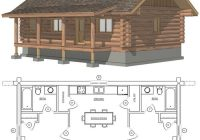 maybe widen second for bunks or add a loft space with small beds or Log Cabin Home Plans With Loft