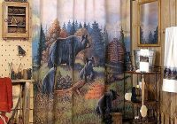 moose r us black bear lodge bathroom shower accessories log Cabin Bathroom Accessories