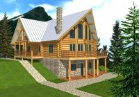 plans story house plans with loft 2 bedroom cabin floor small Mountain Cabin Plans With Loft