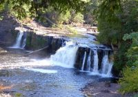 porcupine mountains waterfalls hiking camping Presque Isle State Park Cabins
