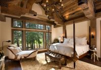 rustic bedrooms design ideas canadian log homes White Walls Brown Furniture Cabin Style Home