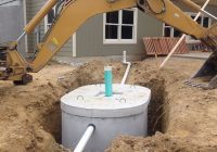septic system installation with photos small home big Small Septic Tank For Cabin