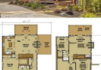small cabin home plan with open living floor plan architecture Cabin Designs And Floor Plans