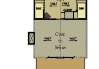 small cabin plan with loft small cabin house plans Small Cabins With Loft Floor Plans