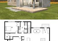 small modern cabin house plan freegreen homes in 2019 Modern Cabin Plans With Loft