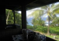 view from dining area of cabin 4 picture of waianapanapa state Waianapanapa State Park Cabins